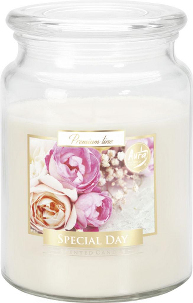 Sveča dišeča v steklu, poseben dan, velika