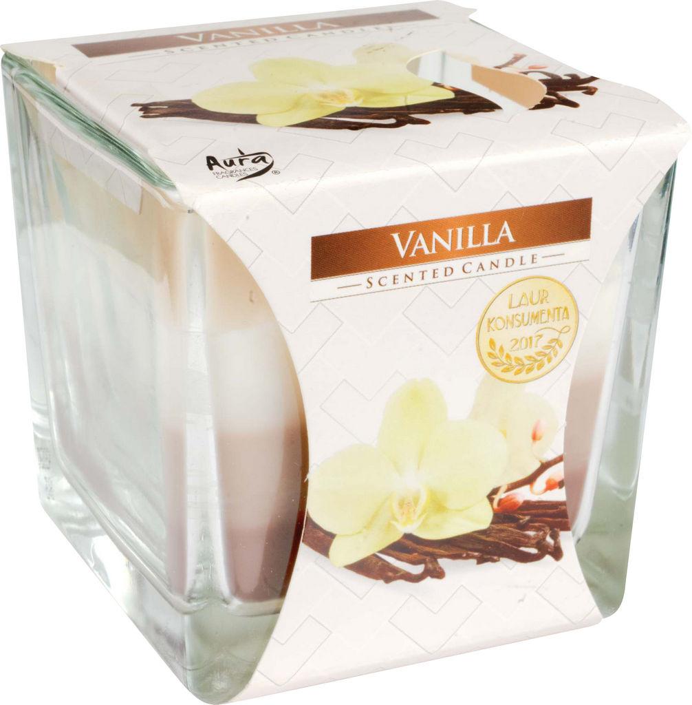 Svečka dišeča, 3 barvna vanilija