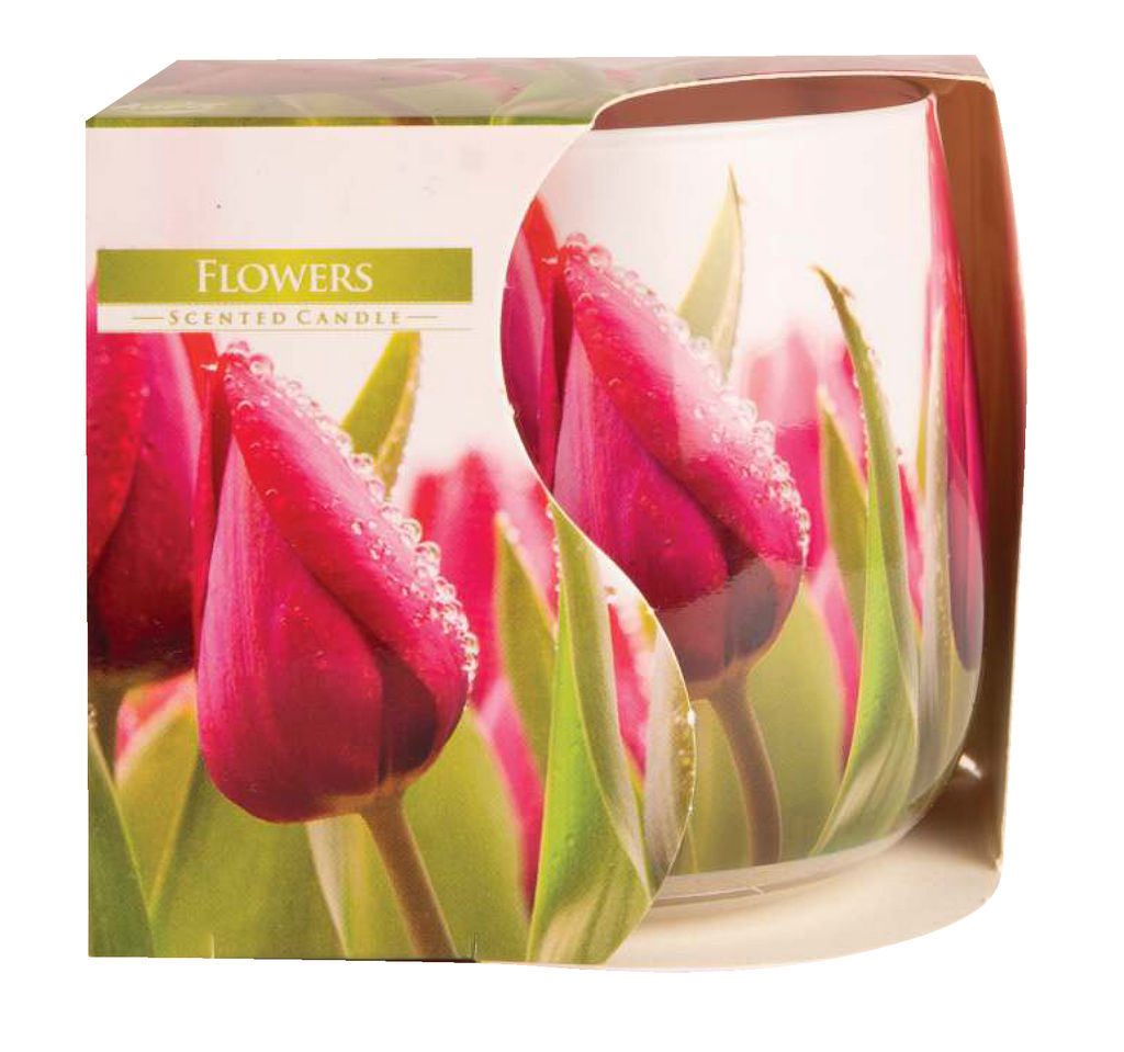 Svečka, dišeča, steklo, tulipan