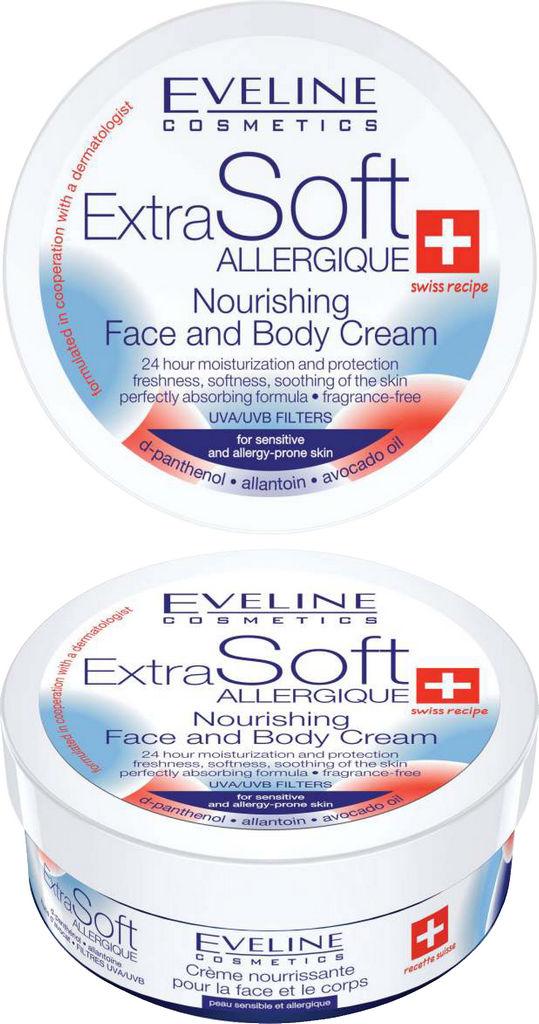 Krema za obraz in telo Eveline, Extra soft hranljiva, 200 ml