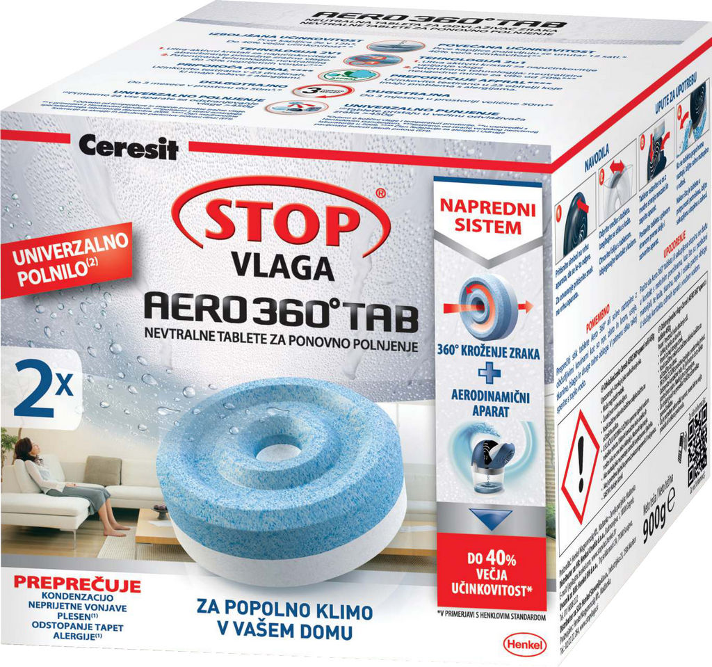 Ceresit stop vlaga, power, tablete, 2x450g