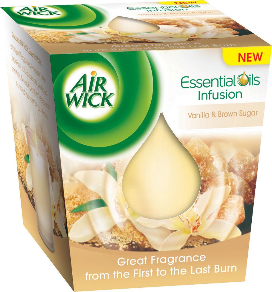 Sveča Airwick, Essential oil inf., van.&rj.sl