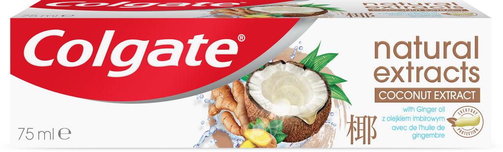 Zobna pasta Colgate Naturals, kokos, ingver, 75 ml