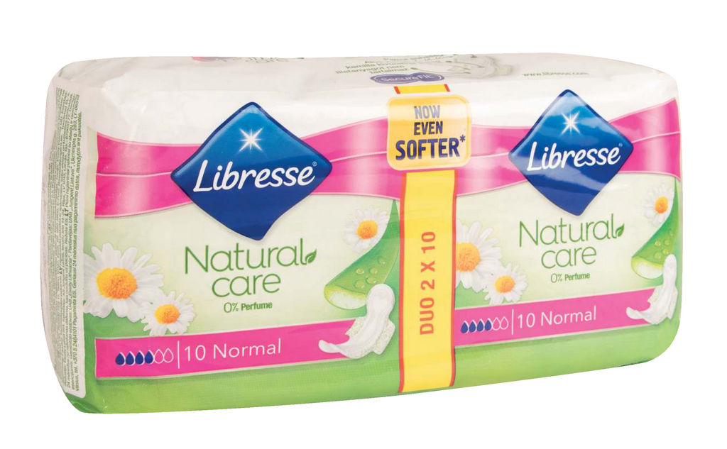 Higienski vložki Libresse, Natural care, Normal, 2 x 10