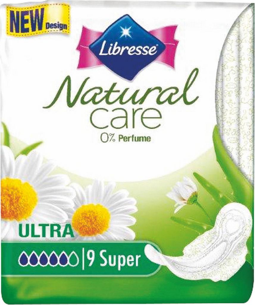 Higienski vložki Libresse, Natural care Ultra super, 9/1