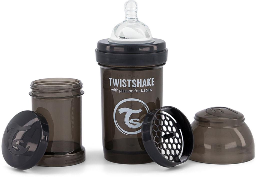 Steklenička Twistshake, Anti Colic, črna, 180 ml