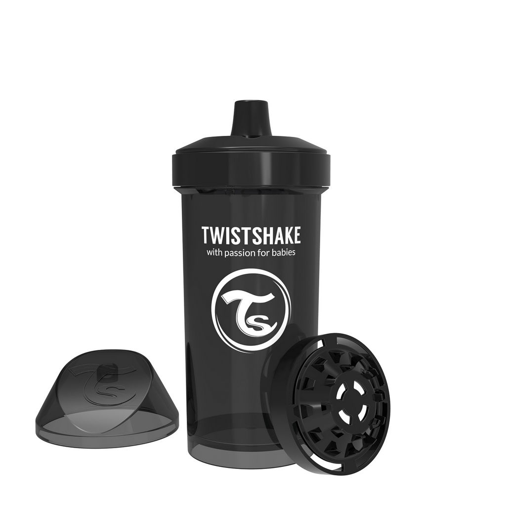 Lonček Twistshake Kid cup črn, 360ml