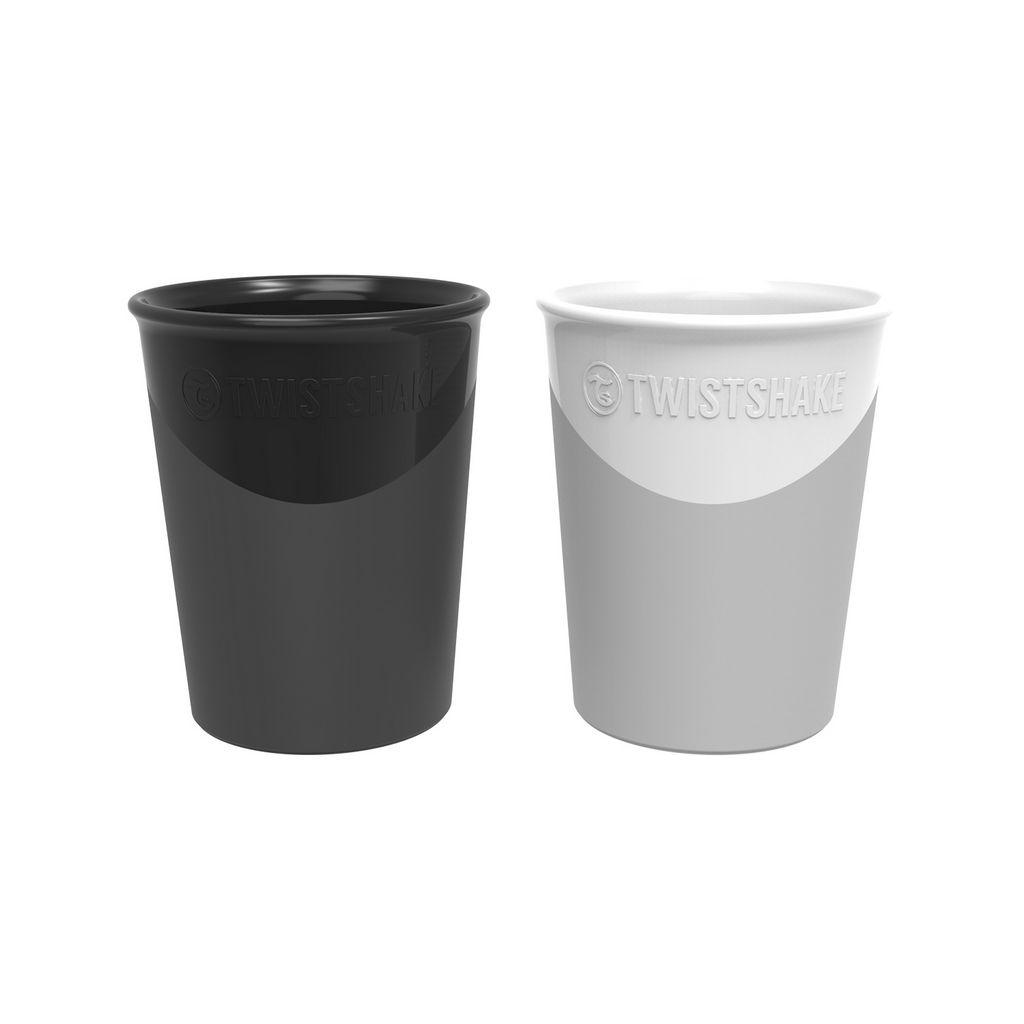 Kozarčka Twistshake črn in bel 170 ml, 2/1