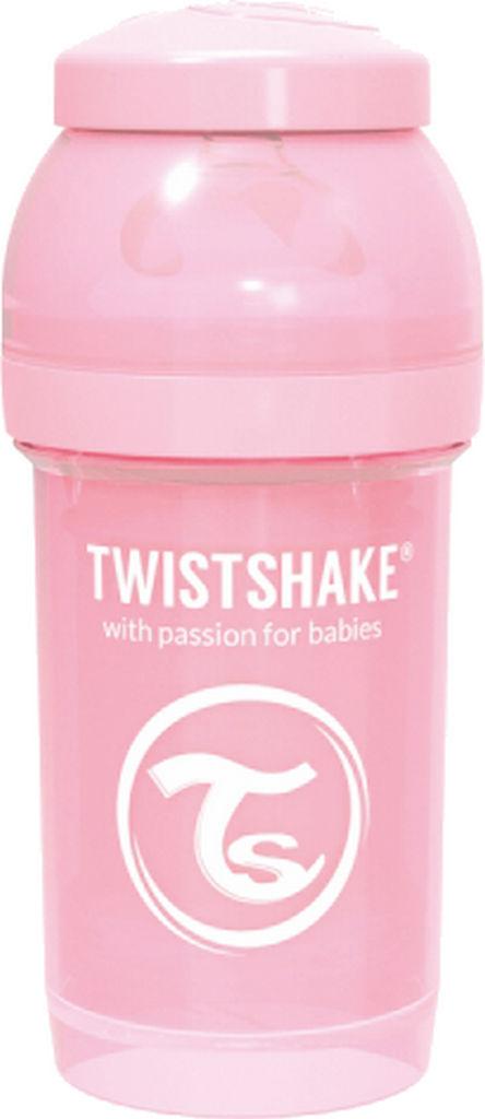 Steklenička Twistshake, anti colic, roza, 180ml