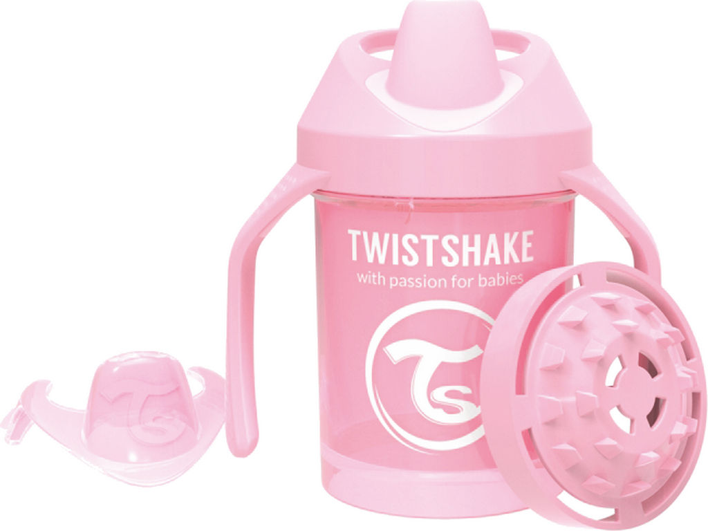 Lonček Twistshake, mini cup, roza, 230ml