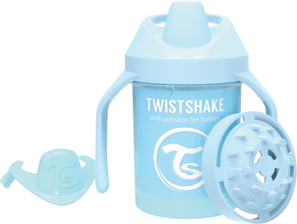 Lonček Twistshake, mini cup, moder, 230ml