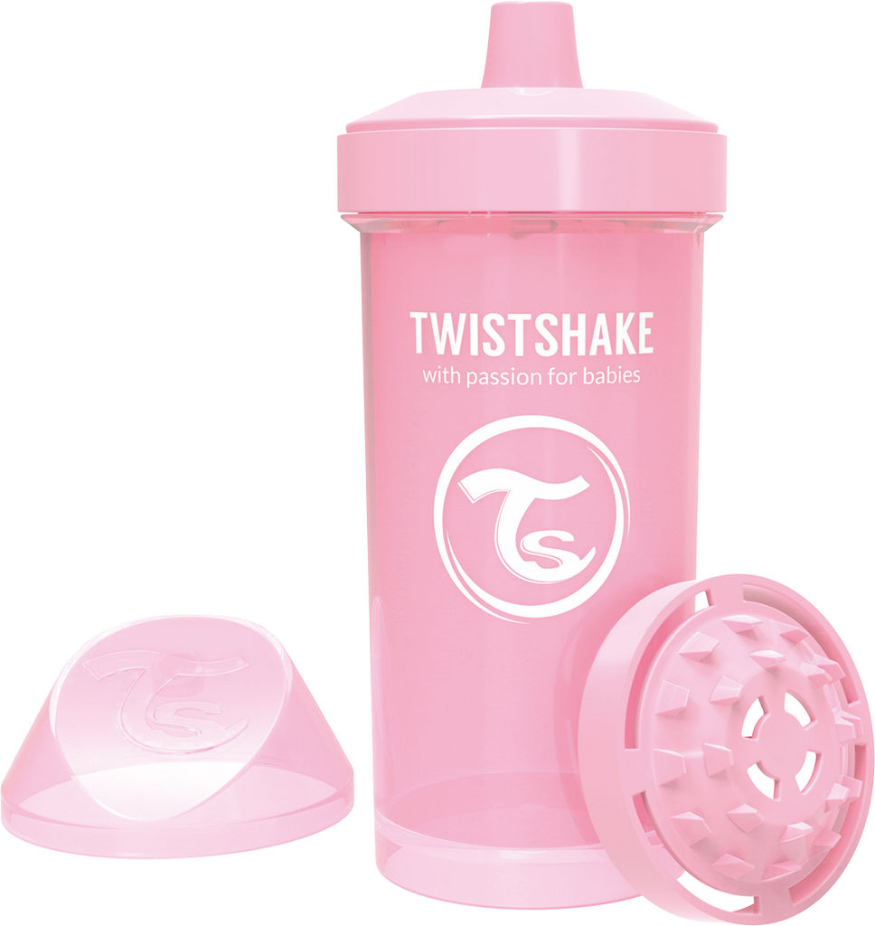 Lonček Twistshake, Kid cup, roza, 360ml