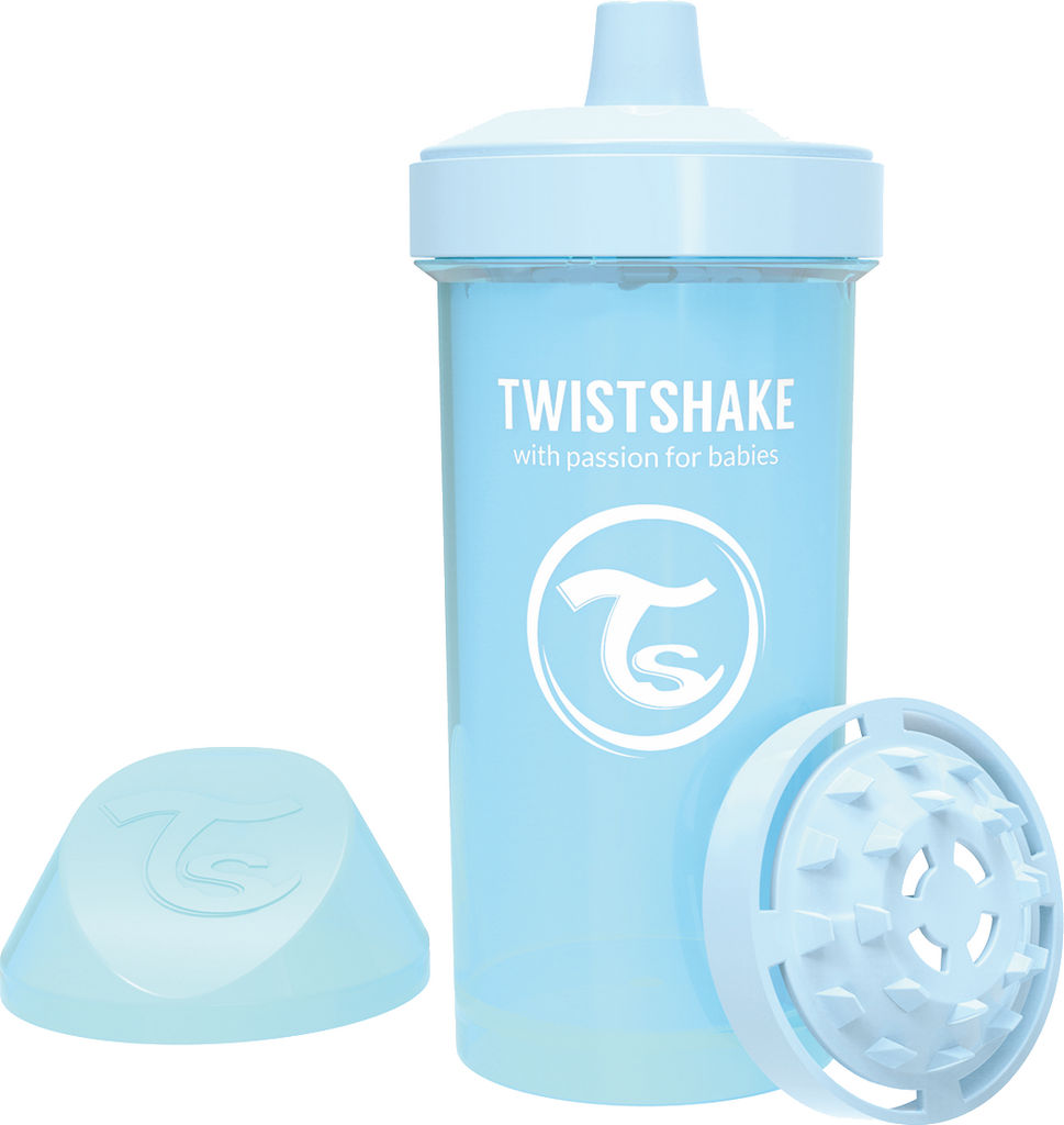 Lonček Twistshake, Kid cup, moder, 360ml