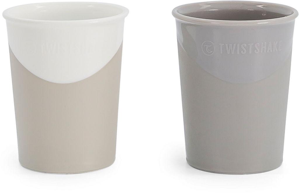 Kozarčka Twistshake, bel in siv, 170 ml, 2/1
