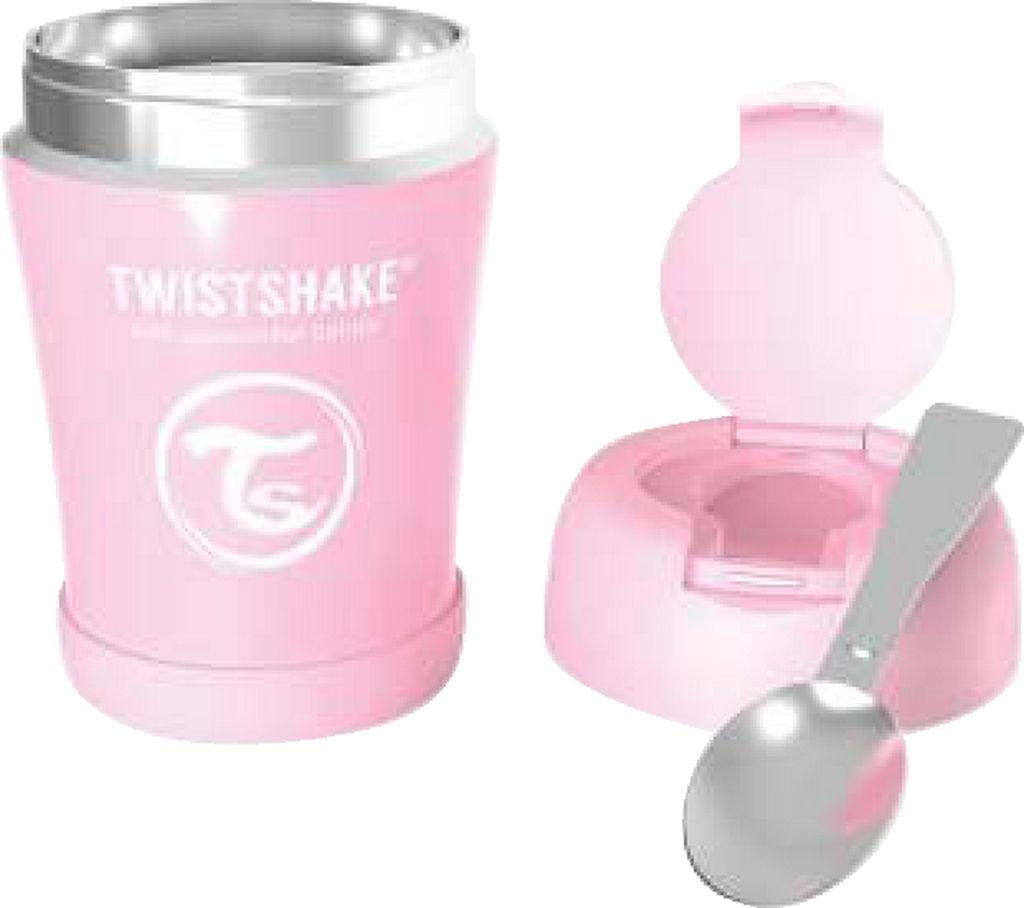 Termo posodica Twistshake za hrano, roza, 350ml