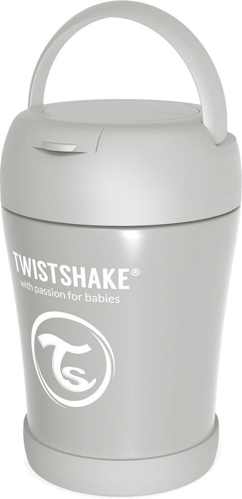Termo posodica Twistshake za hrano, siva, 350ml