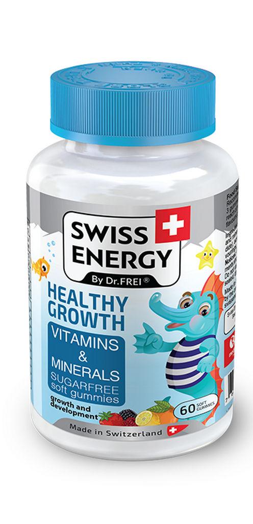 Bonboni Swiss energy growth vitamini in minerali, 120g