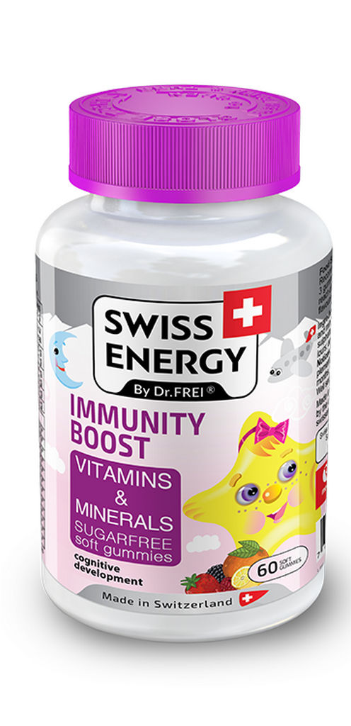 Bonboni Swiss energy bones&teeht vitamini in minerali, 162g
