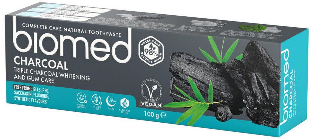 Zobna pasta Biomed Charcoal, 100 g