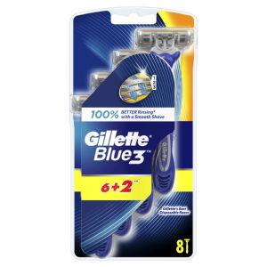 Brivnik Gillette Blue 3, 6+2gratis