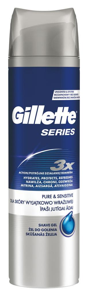 Gel za britje Gillette Series Pure&Sensitive, 200ml