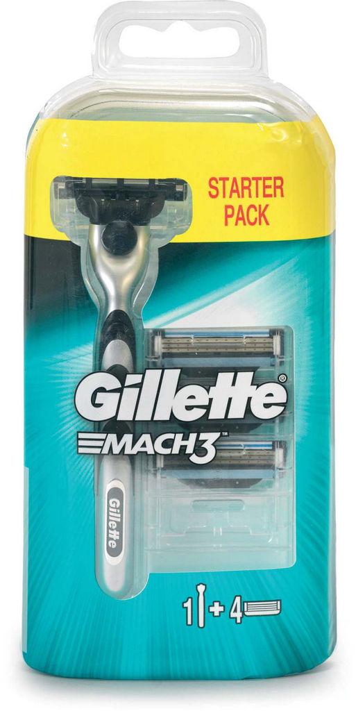 Brivnik Gillette Mach3+nastavki, 3/1