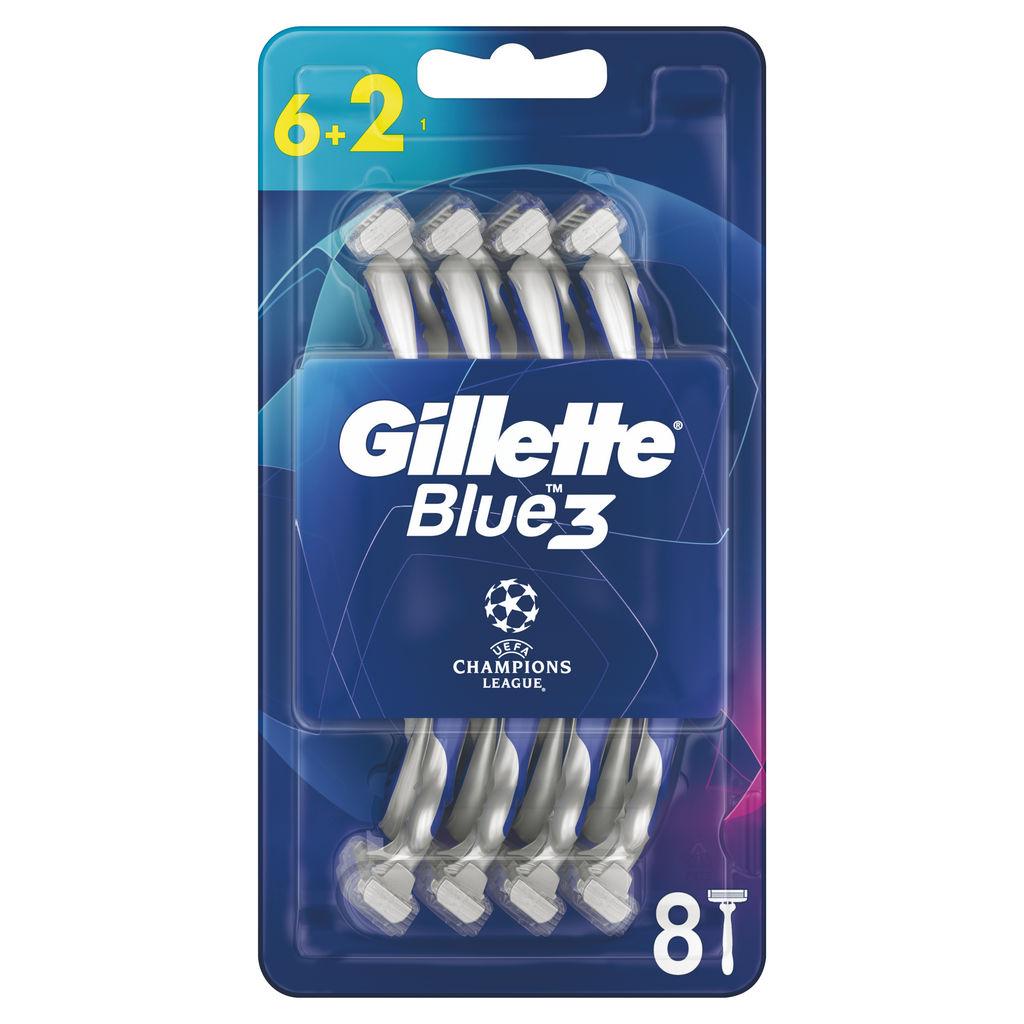 Brivnik Gillette, moški, blue 3 comfort, 6+2 ct ucl