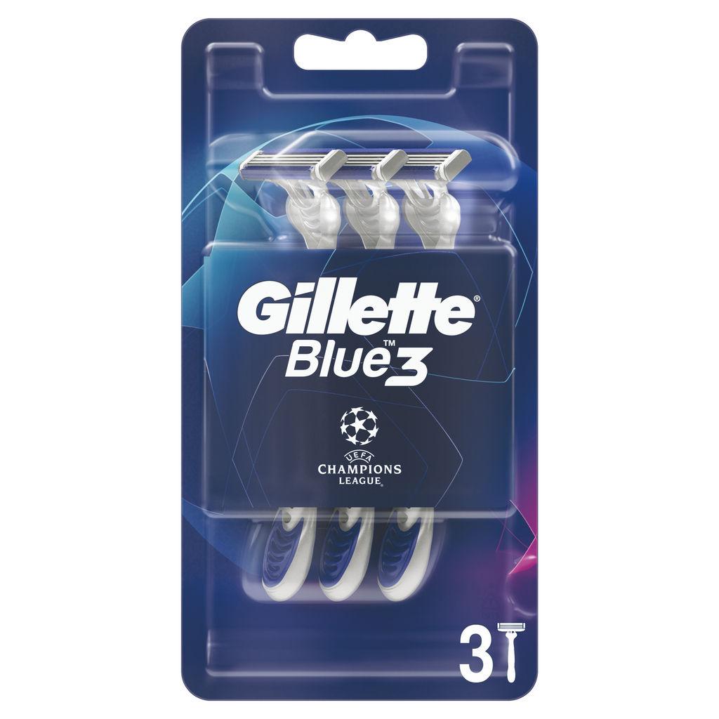 Brivnik Gillette, moški, UCL blue 3, Dispo 3