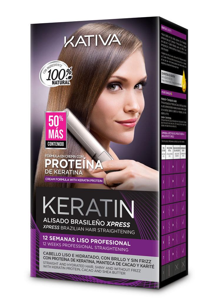 Preparat za ravnanje las Kativa Keratin Xpress, učinkuje 12 tednov