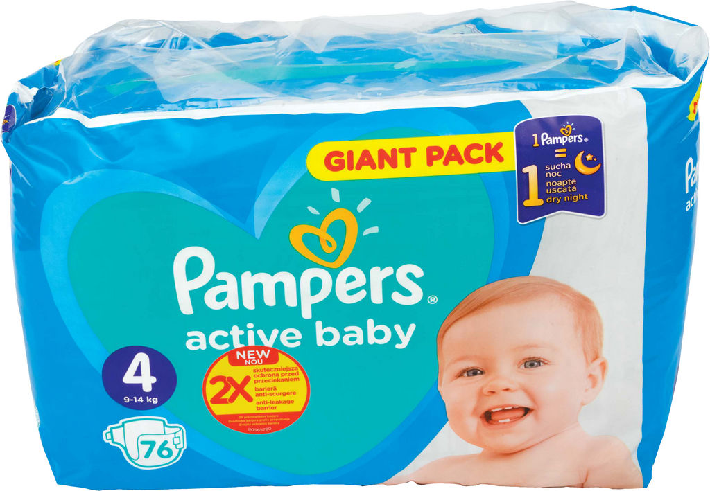 Plenice Pampers, Giant, maxi S4, 76/1