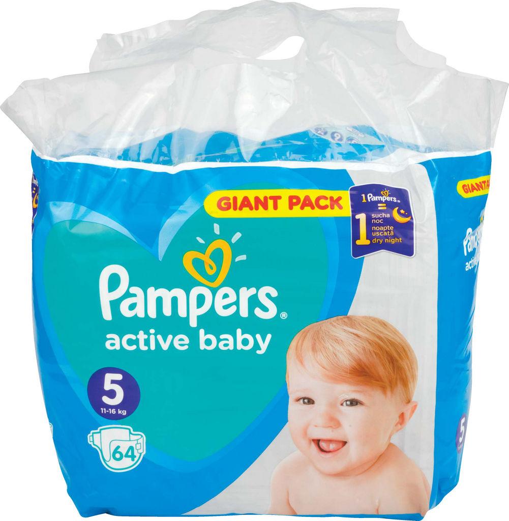 Plenice Pampers, Giant, Junior S5, 11-16kg, 64/1