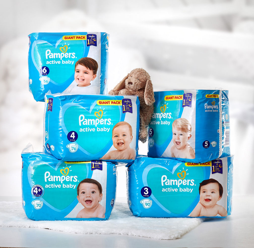 Plenice Pampers, Giant, extra large S6, 13-18kg, 56/1