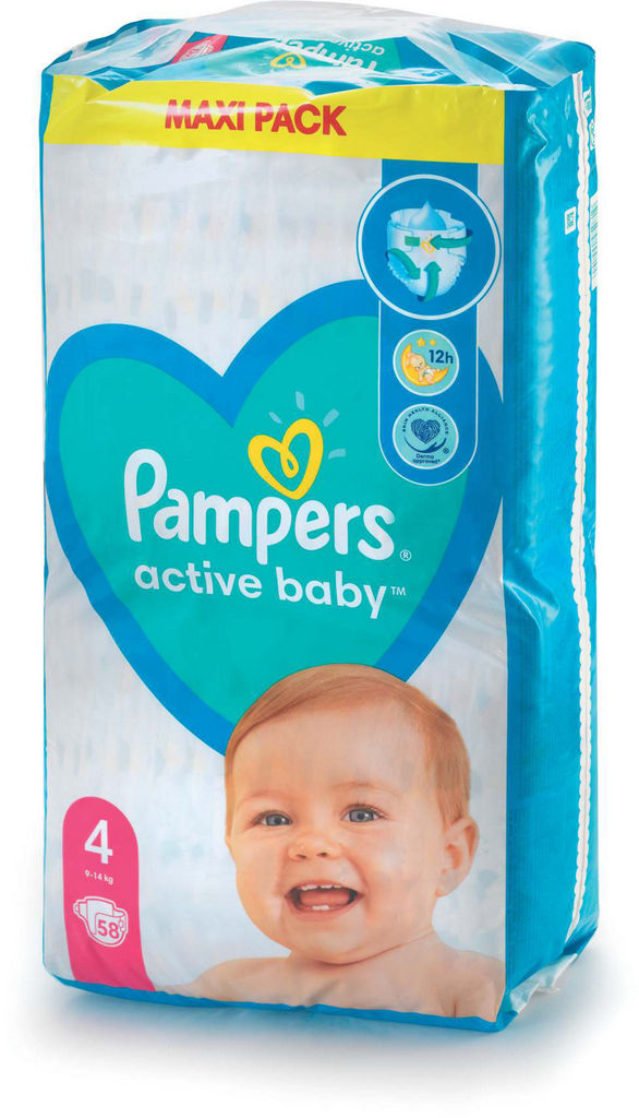 Plenice Pampers, maxi S4, 9-14kg, 58/1