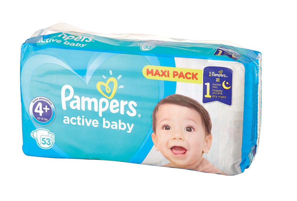 Plenice Pampers, maxi+, S4+, 10-15kg, 53/1