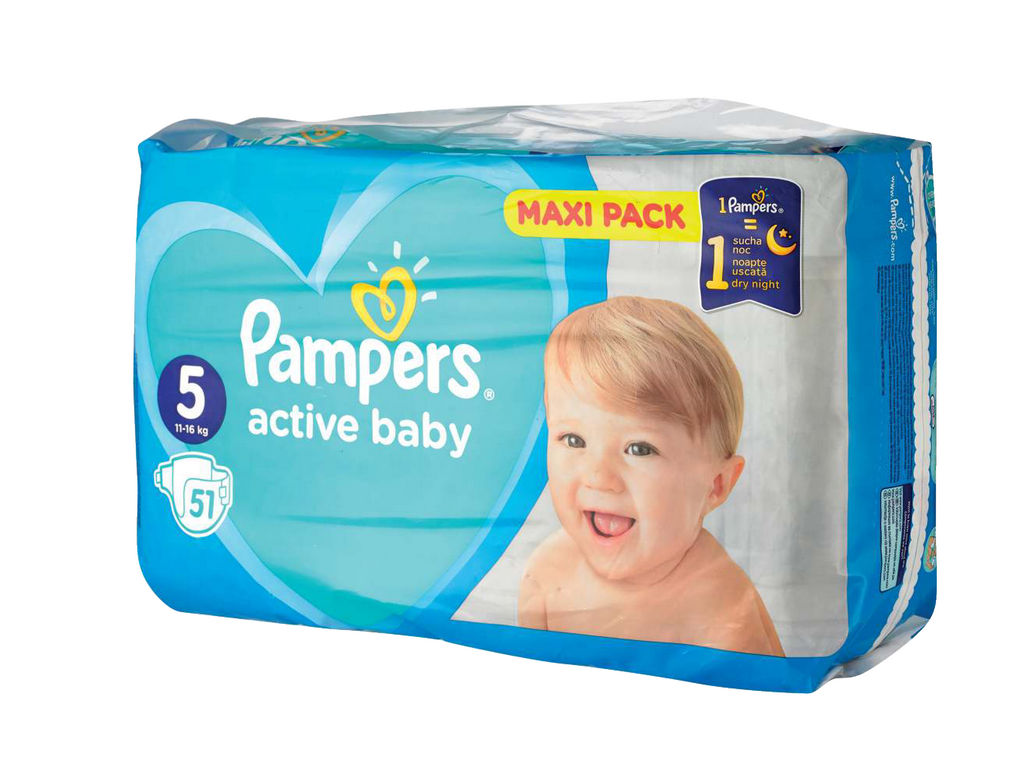 Plenice Pampers, maxi, S5, 11-16kg, 51/1