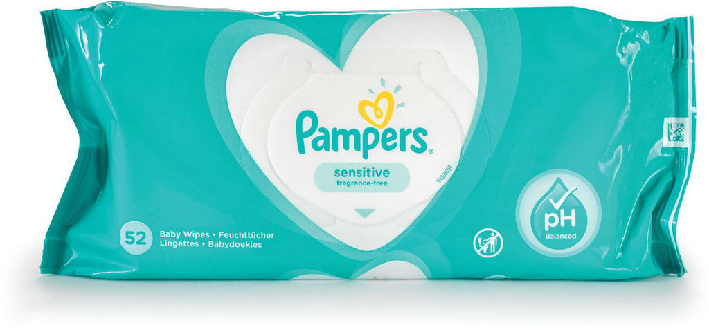 Robčki Pampers, Sensitive, 52/1