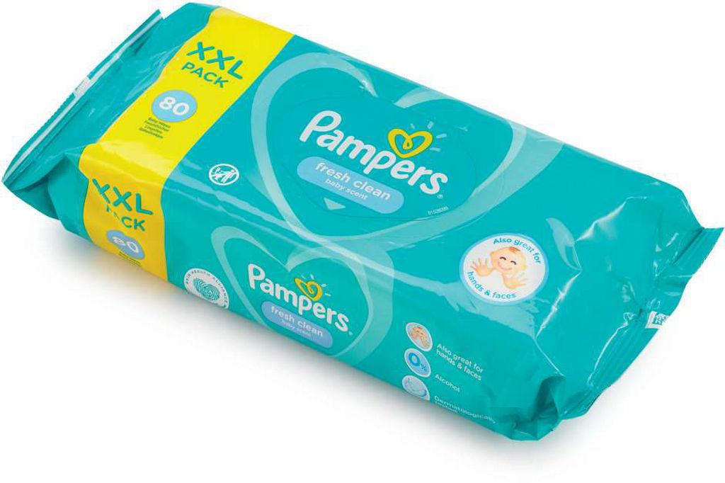 Robčki Pampers, Fresh clean, 80/1