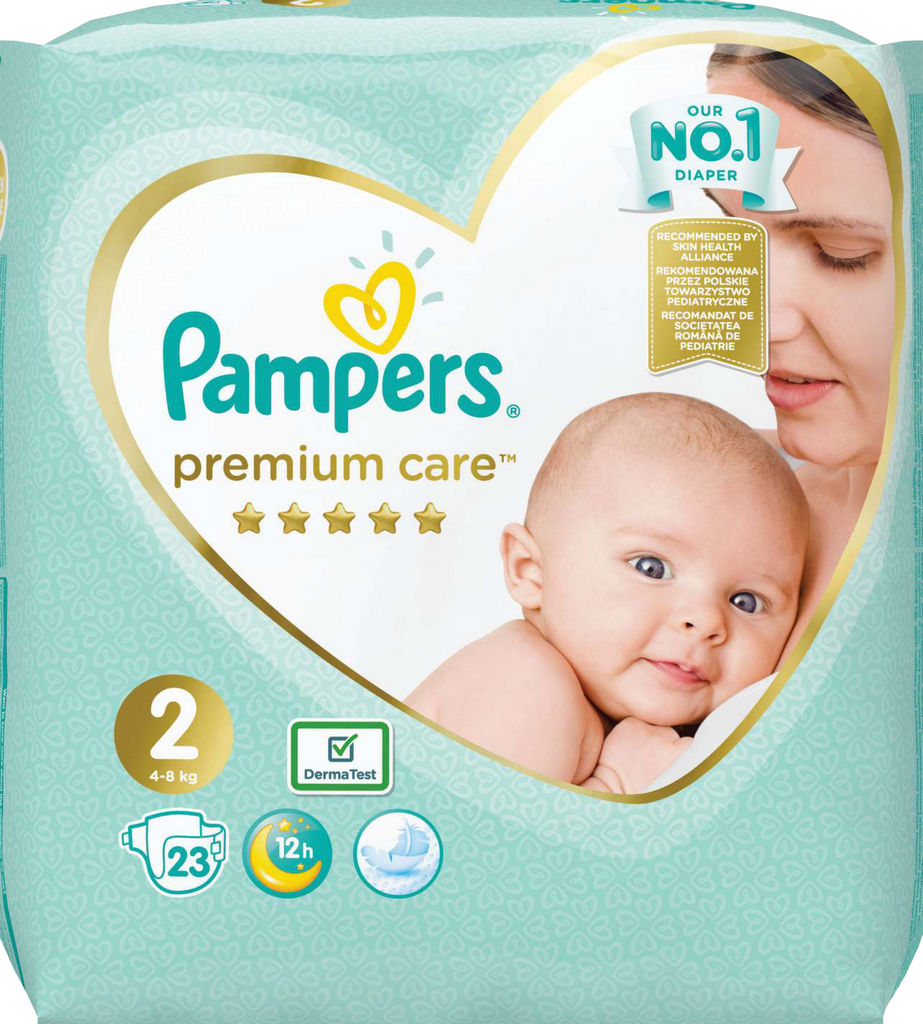 Pampers Premium, Care mini, S2 4-8KG, 23/1