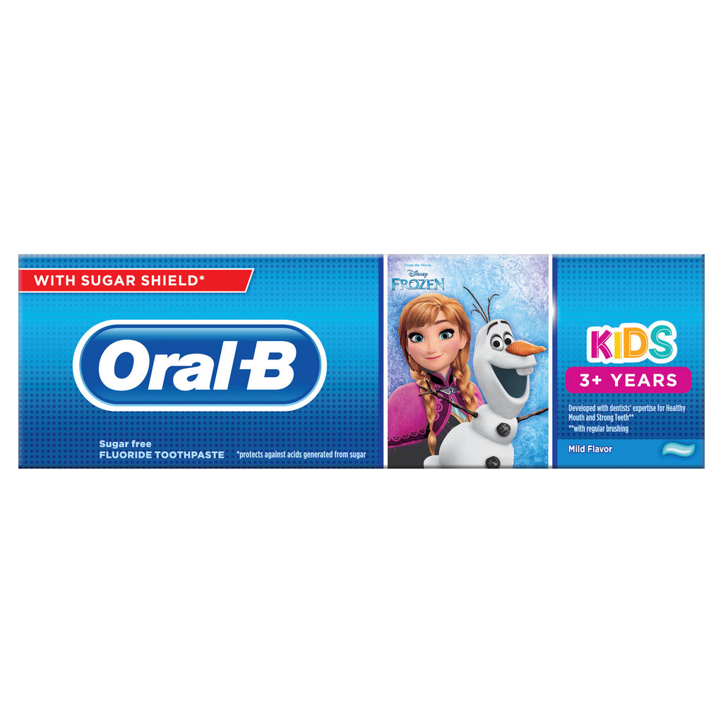 Zobna pasta Oral – B, Frozen, cars, 3+, 75ml