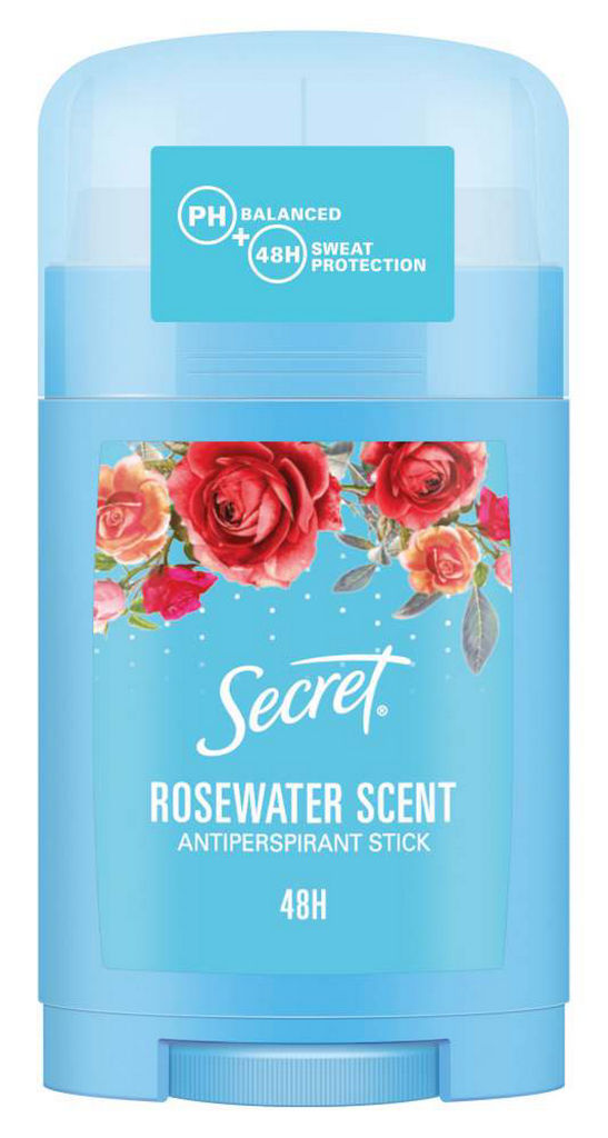 Deodorant v stiku Secret, ženski, Rosewater, 45g