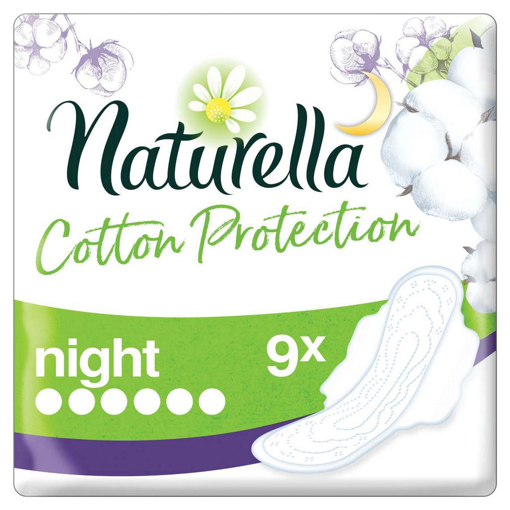 Higienski vložki Naturella, Night cotton protection, 9/1
