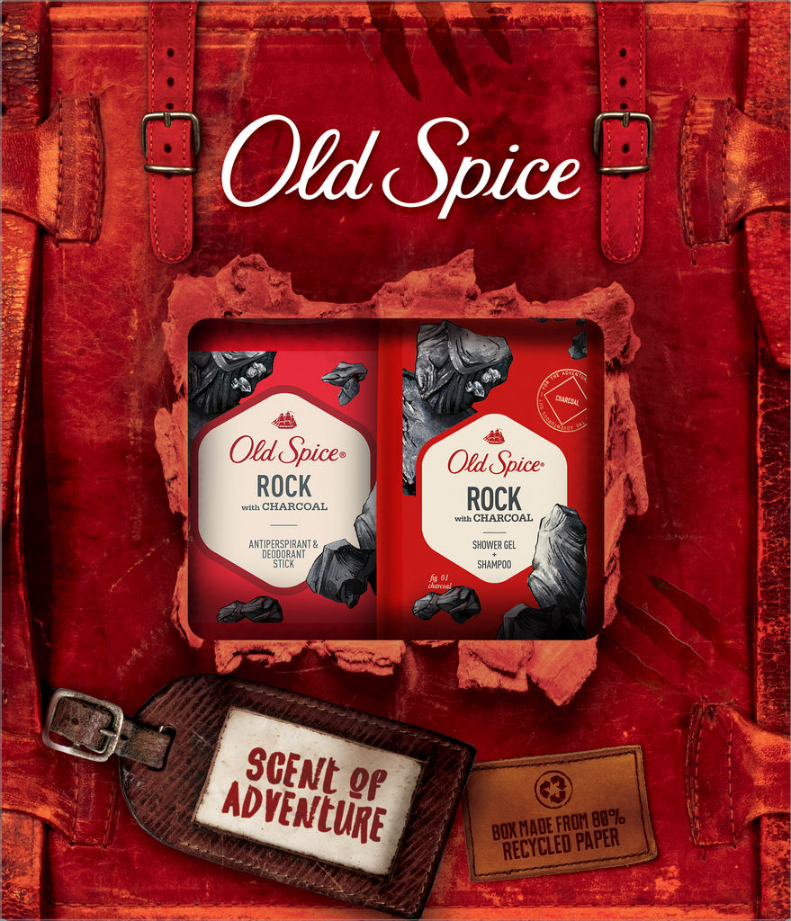 Darilni set Old Spice, Rock AP stick+SG