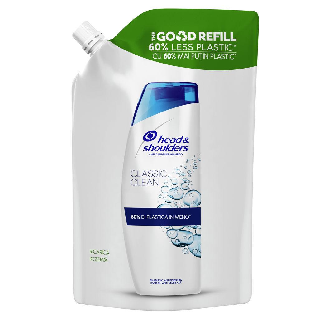 Šampon H&S classic clean, refill, 480 ml