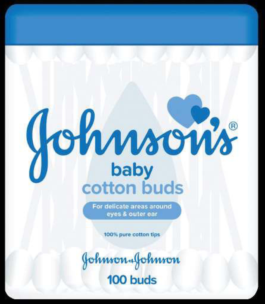 Palčke vatirane Johnson's, Baby cotton buds, 100/1