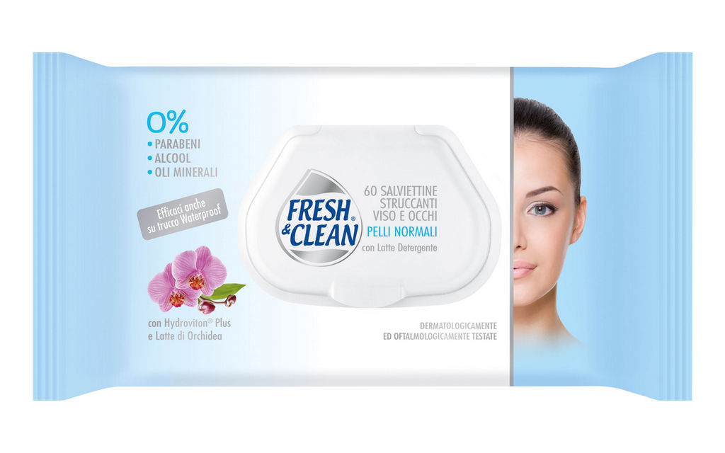 Robčki Fresh & Clean, za odstranjevanje ličil, 60/1