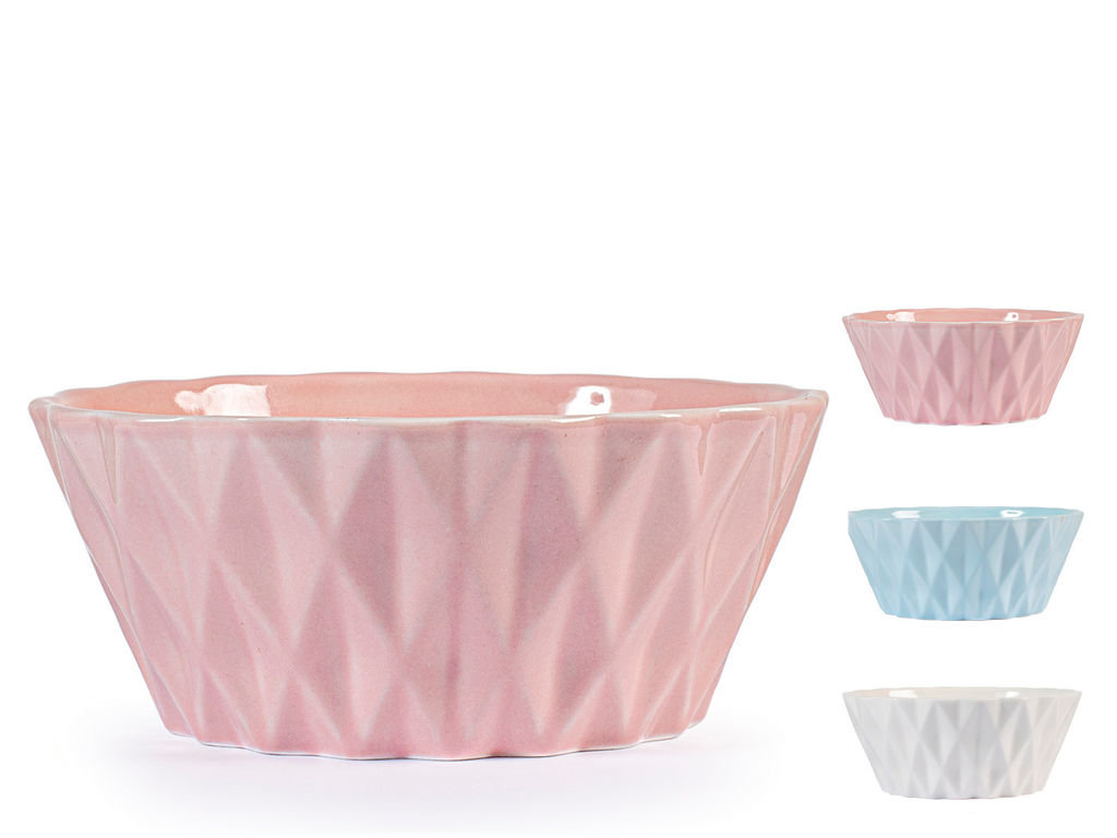 Skledica za musli, new bone china, sort. barve, 320 cl