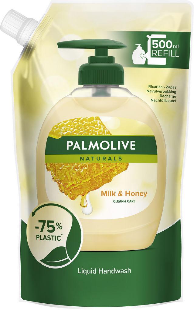 Milo tekoče Palmolive, mleko & med, polnilo, 500 ml