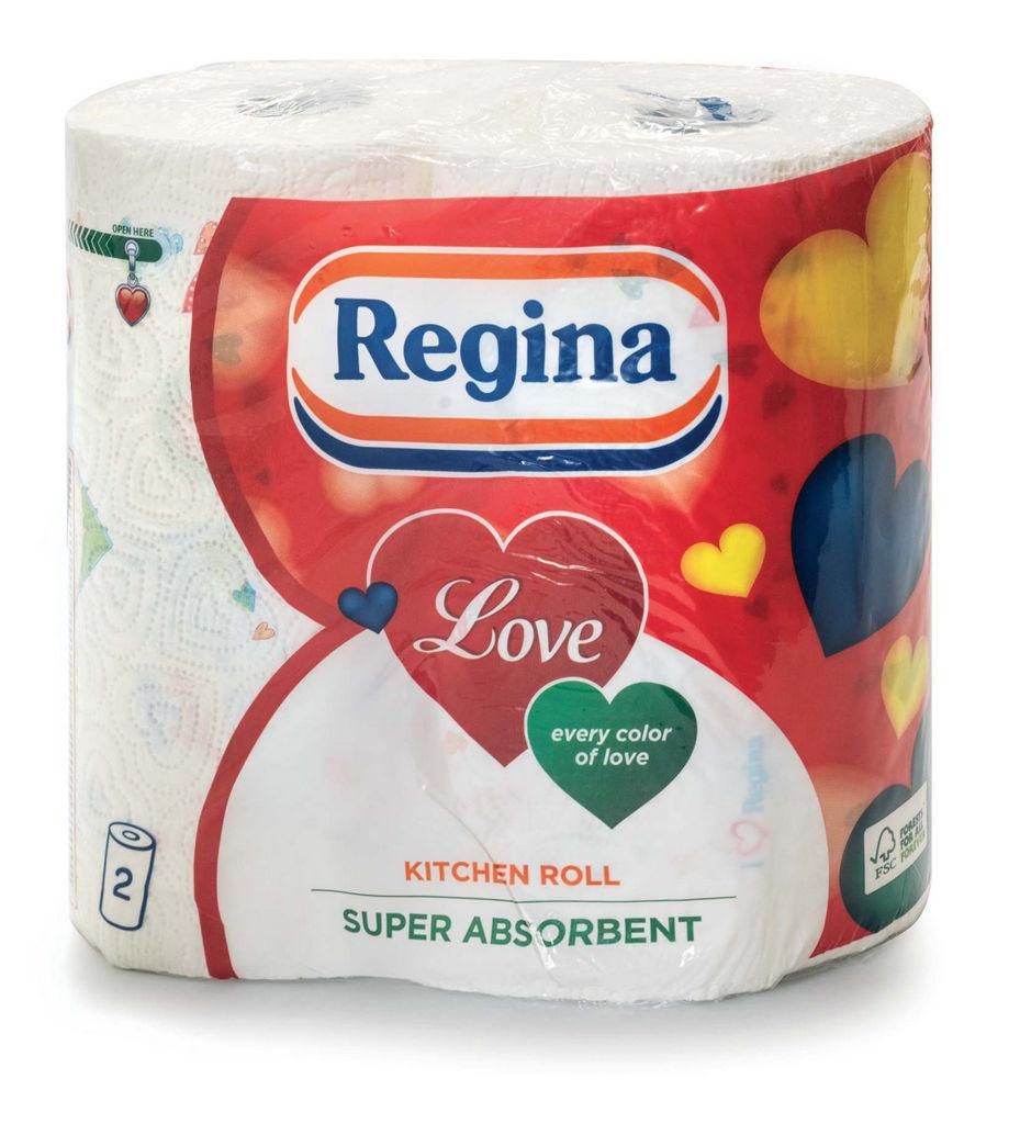 Papirnate brisače Regina love, 2sl., 2/1