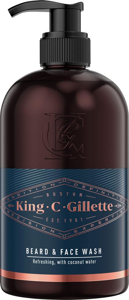 Tekoče milo Gillette King C, za obraz in brado, 350 ml