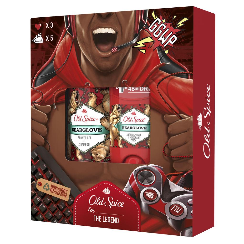 Darilni paket Old Spice, Bearglove, Gamer, Božični, moški